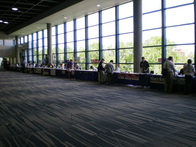 long line of booths
